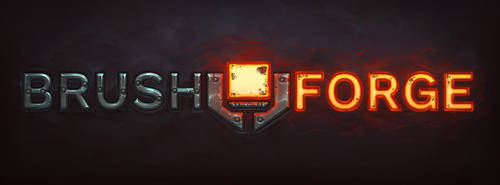 'Brush Forge' logo fun paint over by tsabszy