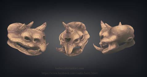 Triceratortoise Skull by tsabszy