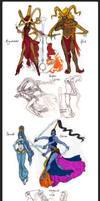 Final Fantasy Summons OCs by french-teapot