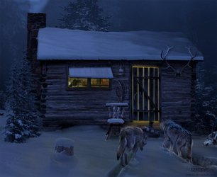 WOLVES AT MY DOOR by IZSTEVE