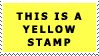 Yellow Stamp by MammaThatMakes