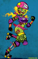 Roller Zombie by dsoloud