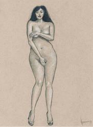 Female nude art by emm-zi