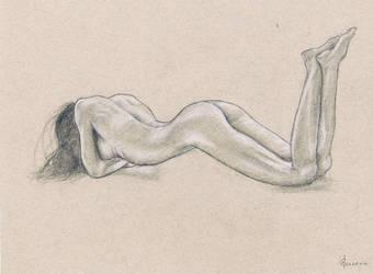 Female nude art #6 by emm-zi