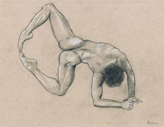 Male nude art by emm-zi