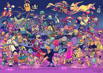 Cartoon Network 20th Anniversary by legosrcool1000