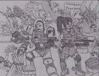 Gears of War and Warhammer 40k Crossover by Shaylore