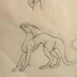 Dragon doodle reference by NuraNuraPop
