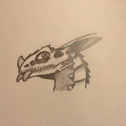 Unnamed dragon OC Halloween doodle by NuraNuraPop