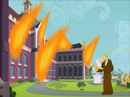 B1 accidentally burns down Canterlot high by B1BattleDroid