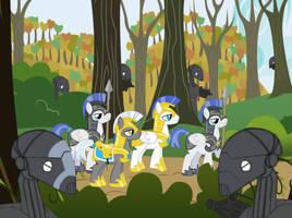 Equestrian-Confederate War: Ambush by B1BattleDroid