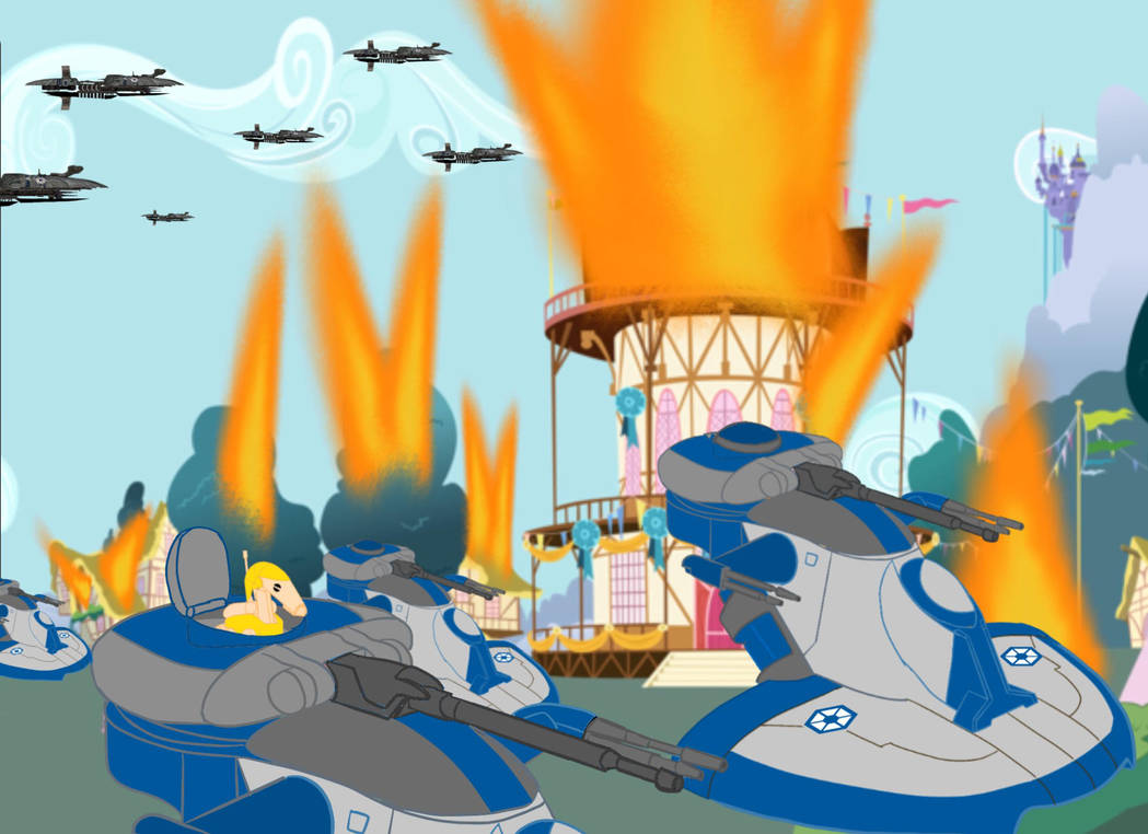 Confederate Equestria War Amored Assault Attack By B1battledroid On