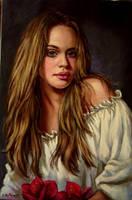 Darla..oil on linen by xxaihxx