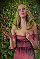 Lovelorn..  oil paint by xxaihxx