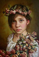 Dreaming child..oil paint on linen canvas by xxaihxx