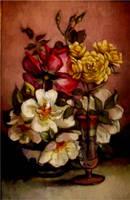 Roses..oil paint by xxaihxx