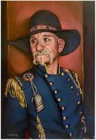 Pistol Pete..oil on linen canvas by xxaihxx