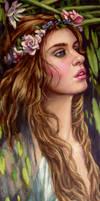 Ophelia..close up ..oils by xxaihxx