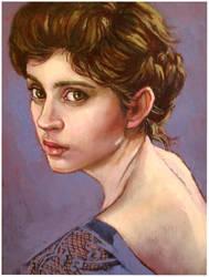 Pretty woman(2) oil on linen canvas by xxaihxx