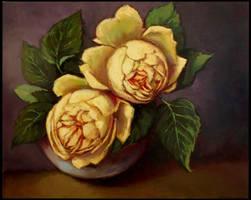 Yellow Roses by xxaihxx
