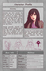Character Profile - Serenity by Lunallidoodles