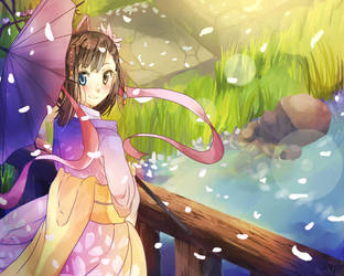 Japanese girl by NekoLenLen0