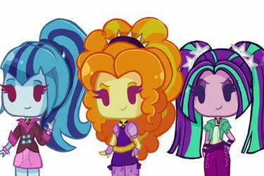 The Dazzlings (Chibi) by DarkBerryArt