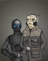 Star Wars - Rebel officer and assistant by Konquistador