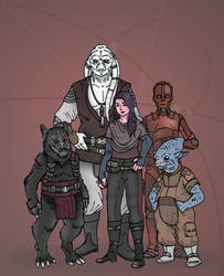 Star Wars - Treasure Hunter RPG Party by Konquistador