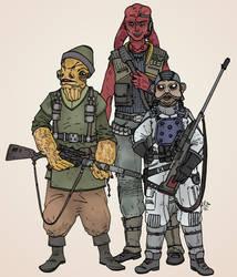 Star Wars - The Krakana Trio by Konquistador