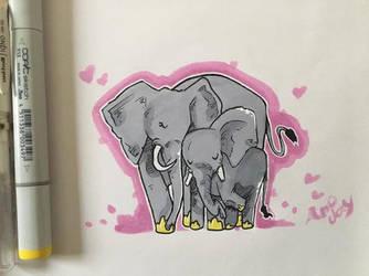 Elephants :P by Arjay-the-Lionheart