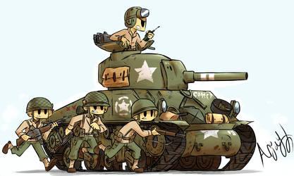 US M4 Sherman by Arjay-the-Lionheart
