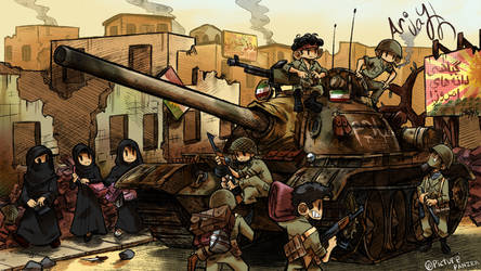 Iranian T-55 by Arjay-the-Lionheart