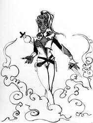 INKTOBER 12/31 - Oblivion Assassin, Karah by DraumWitch