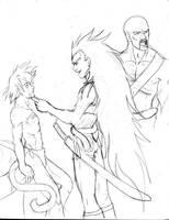 Raditz, Gokuh, and Nappa by Pinkuh