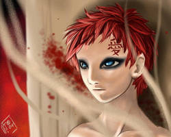 Gaara in the night by Pinkuh