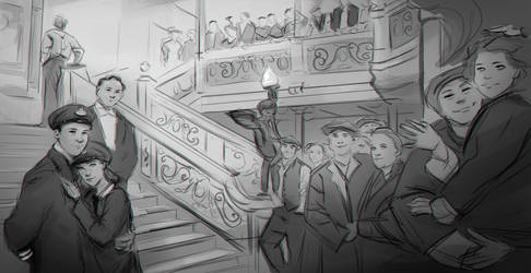 Titanic Sketch by whereisnovember