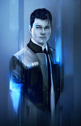 Connor - Detroit Become Human by whereisnovember