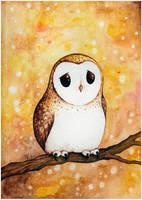 Autumn Owl by Alliot-art