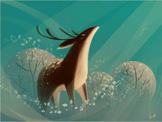 Deer by Alliot-art