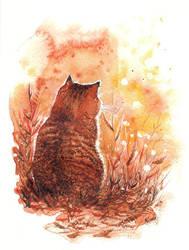 Warm cat by Alliot-art