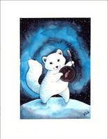 Arctic fox by Alliot-art