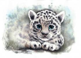 snow leopard by Alliot-art