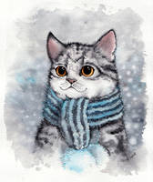 Cattober 7/31 -  scarf by Alliot-art