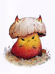 Cattober 19 - mushroom by Alliot-art