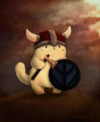 Cattober 27 - viking by Alliot-art
