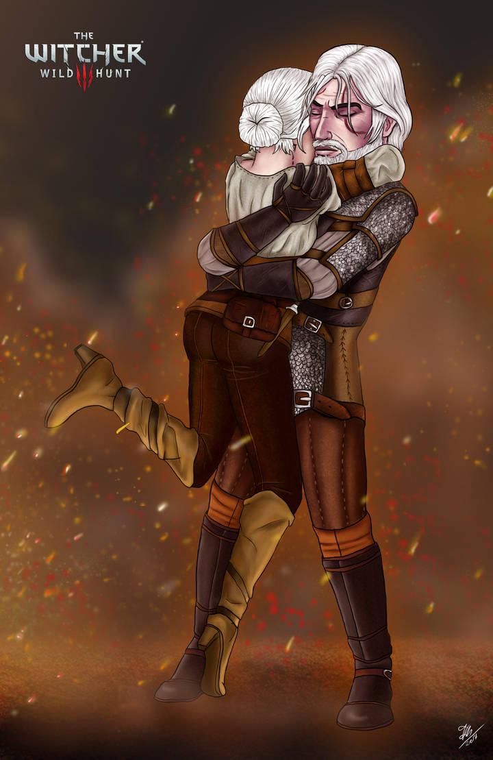 Witcher 3 - Geralt a Ciri by Pridipdiyoren