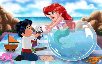 Baby Ariel and Eric by Pridipdiyoren