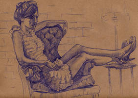 Nadine - Dr. Sketchy Cleveland by timswit