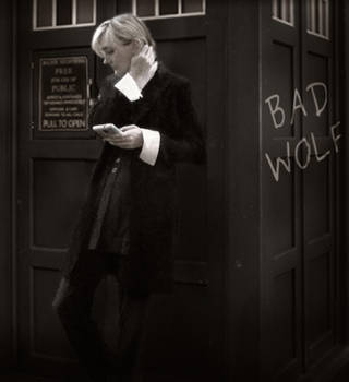13- Bad Wolf (monochrome) by TheLady-Doctor